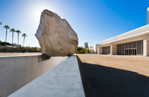 Levitated Mass, a 340-ton boulder on display at LACMA