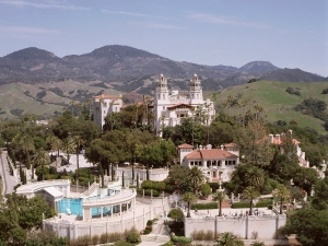 Hearst Castle from above